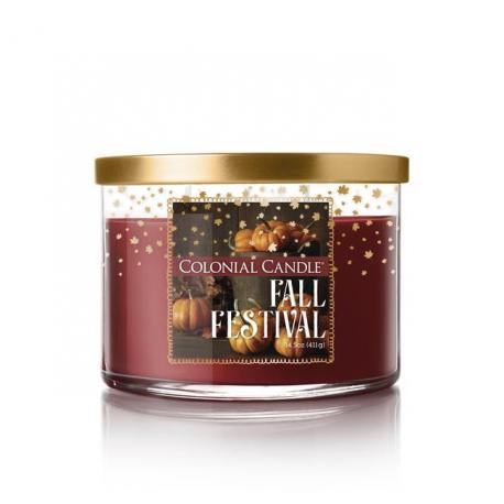 Bougie 3 mèches FALL FESTIVAL Colonial Candle