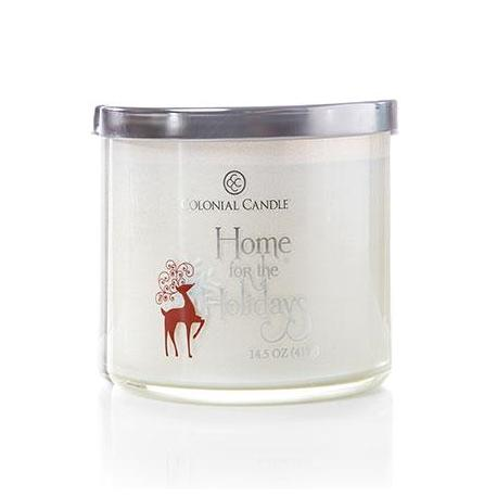 Bougie 3 mèches HOME FOR THE HOLIDAYS Colonial Candle