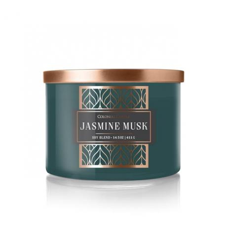 Bougie 3 mèches JASMINE MUSK Colonial Candle
