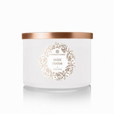 Bougie 3 mèches MINT COCOA Colonial Candle