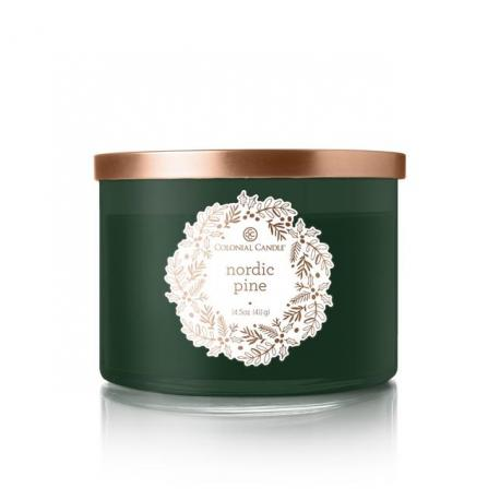 Bougie 3 mèches NORDIC PINE Colonial Candle