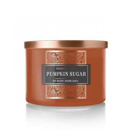 Bougie 3 mèches PUMPKIN SUGAR Colonial Candle