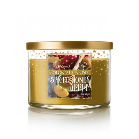 Bougie 3 mèches SPICED APPLE HONEY Colonial Candle
