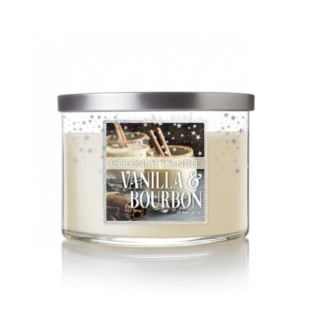 Bougie 3 mèches VANILLA BOURBON Colonial Candle