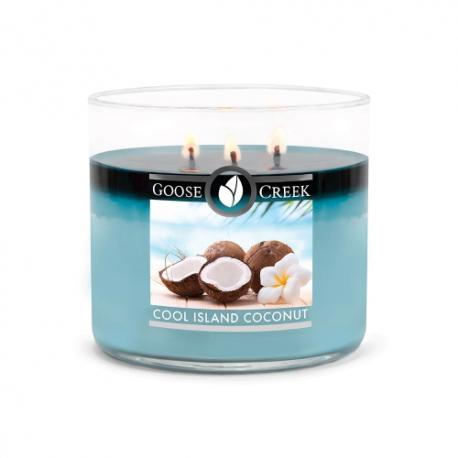 Bougie 3 mèches COOL ISLAND COCONUT Goose Creek Candle