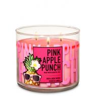Bougie 3 mèches PINK APPLE PUNCH Bath and Body Works
