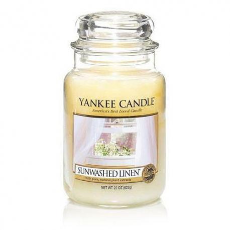 Bougie parfumée Grande Jarre SUNWASHED LINEN Yankee Candle exclu US USA