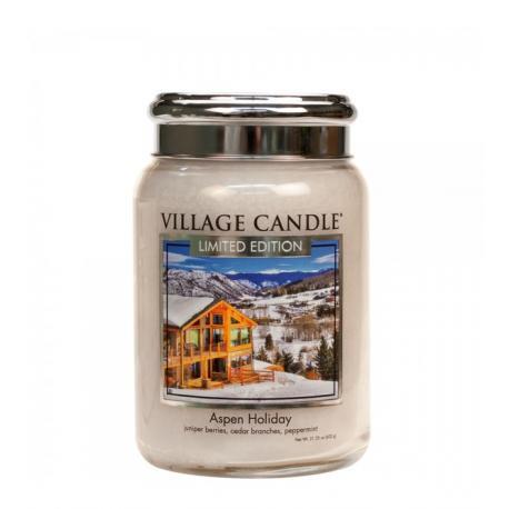 Grande Jarre 2 mèches ASPEN HOLIDAY Village Candle Difmu