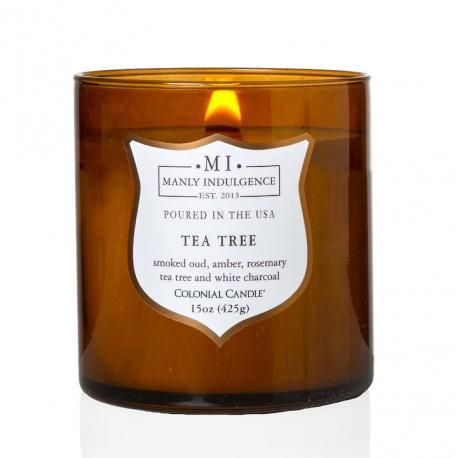 Bougie mèches en bois MI TEA TREE Colonial Candle