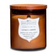 Bougie mèches en bois MI CITRUS AMBER Colonial Candle