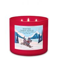 Bougie 3 mèches WINTER CANDY APPLE Bath and Body Works Difmu