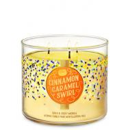 Bougie 3 mèches CINNAMON CARAMEL SWIRL Bath and Body Works