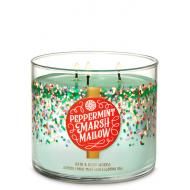 Bougie 3 mèches PEPPERMINT MARSHMALLOW Bath and Body Works
