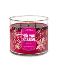Bougie 3 mèches TIS THE SEASON Bath and Body Works Noël