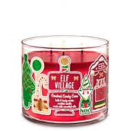 Bougie 3 mèches ELF VILLAGE CRUSHED CANDY CANE Bath and Body Works