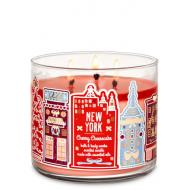 Bougie 3 mèches NEW YORK CHERRY CHEESECAKE Bath and Body Works Difmu