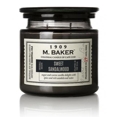 Bougie 2 mèches Mrs Baker SWEET SANDALWOOD Colonial Candle Difmu