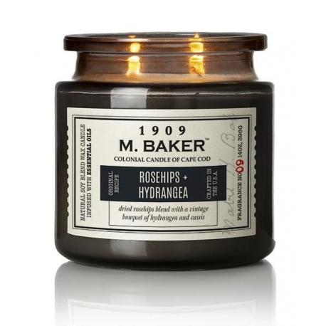Bougie 2 mèches Mrs Baker ROSEHIPS AND HYDRANGEA Colonial Candle
