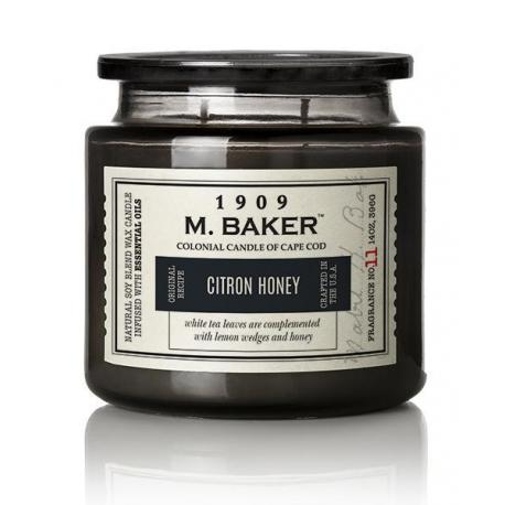 Bougie 2 mèches Mrs Baker CITRON HONEY Colonial Candle