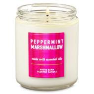 Bougie mason jar PEPPERMINT MARSHMALLOW Bath and Body Works