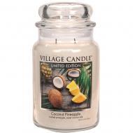 Bougie parfumée Grande Jarre 2 mèches COCONUT PINEAPPLE Village Candle exclu US USA
