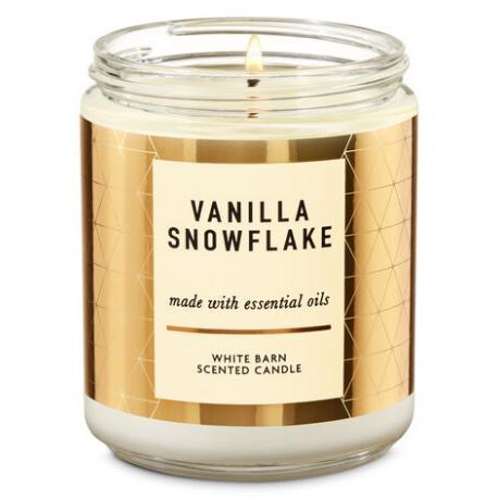 Bougie moyenne VANILLA SNOWFLAKE Bath and Body Works
