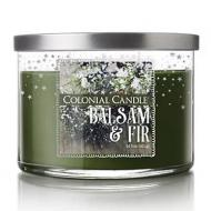 Bougie 3 mèches BALSAM AND FIR Colonial Candle
