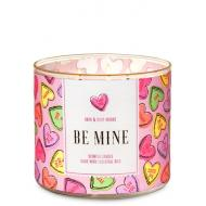 Bougie 3 mèches BE MINE / CANDY HEARTS Bath and Body Works en France