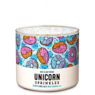 Bougie 3 mèches UNICORN SPRINKLES Bath and Body Works FRANCE