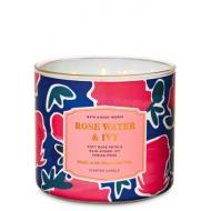 Bougie 3 mèches ROSE WATER AND IVY Bath and Body Works