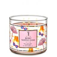 Bougie 3 mèches BERRY WAFFLE CONE Bath and Body Works
