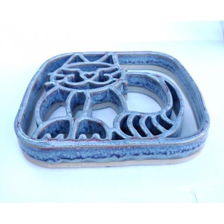 Repose plat-bougie CHAT Baypottery