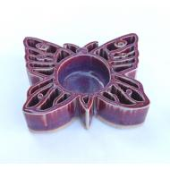 Tealight - votive holder PAPILLON rose Baypottery