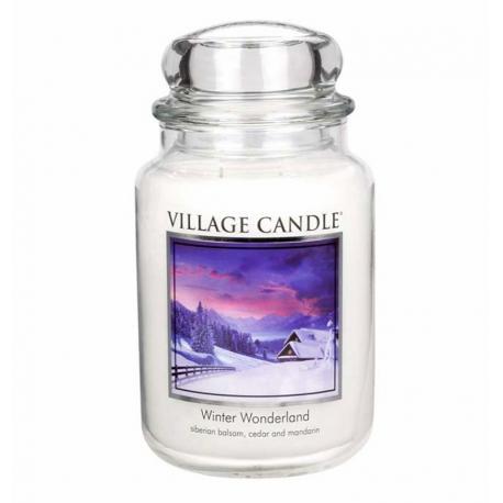 Grande Jarre 2 mèches WINTER WONDERLAND Village Candle