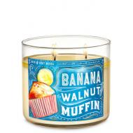 Bougie 3 mèches BANANA WALNUT MUFFIN Bath and Body Works