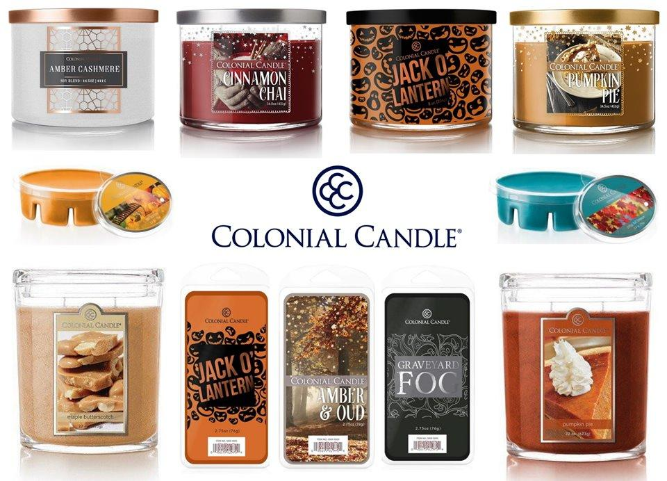 Bougies parfumées Colonial Candle automne halloween 2019